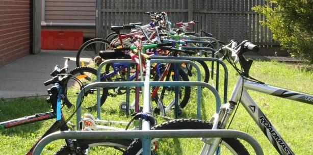 bikes, rack